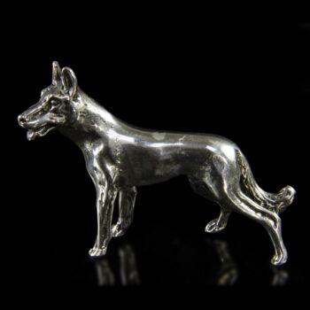 Mini ezüst farkas figura