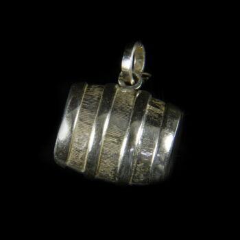 Mini ezüst hordó zsuzsu