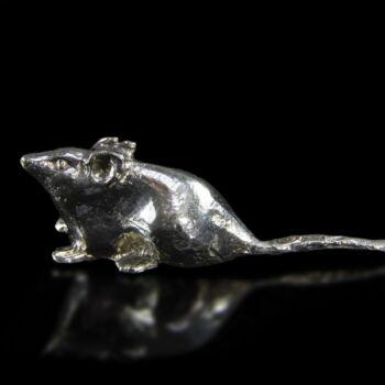 Ezüst mini patkány figura