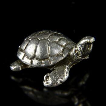 Mini ezüst teknős figura