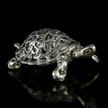 Mini ezüst filigrán teknőc figura