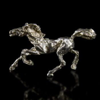 Mini ezüst vágtázó paripa