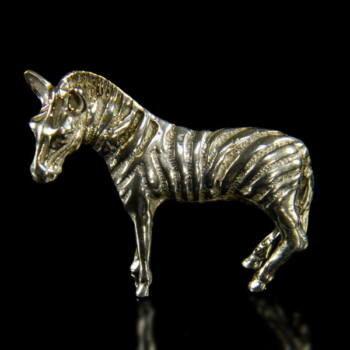 Mini ezüst zebra figura