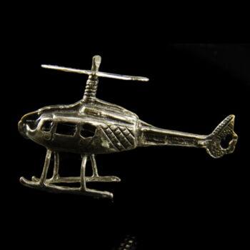 mini ezüst helikopter