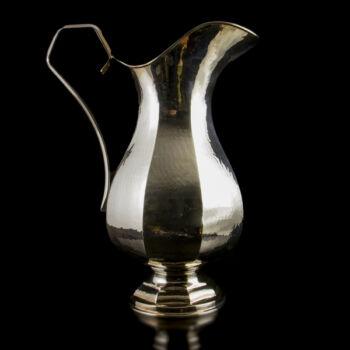 Nagyméretű olasz trébelt ezüst vizes kancsó