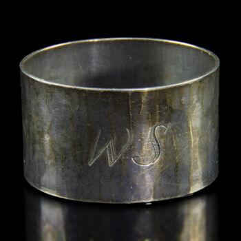 Német ezüst szalvétagyűrű