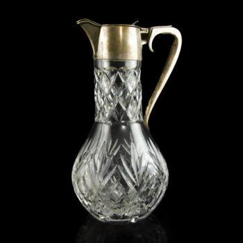 Angol ezüst-ólomkristály boros karaffa