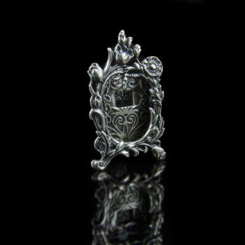 Mini ezüst fényképtartó