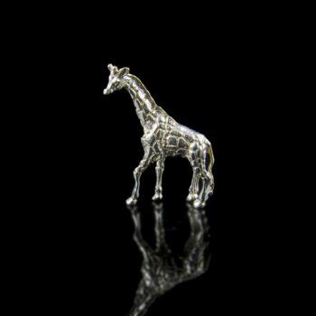 Mini ezüst zsiráf