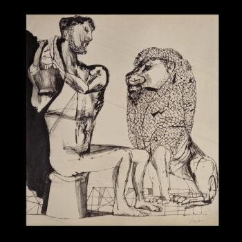 Szalay Lajos (1909-1995) Férfi  oroszlánnal