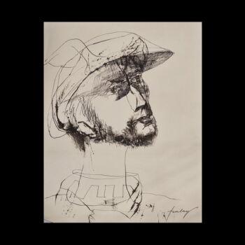 Szalay Lajos (1909-1995)Tusrajz - Férfiportré