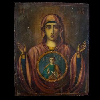 Festett orosz Istenanya ikon