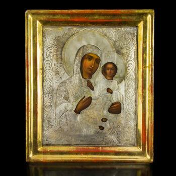 Hodigitria - Útmutató Istenszülő ikon ezüst borítással