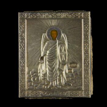 Szent Mihály ezüst borítású mini ikon