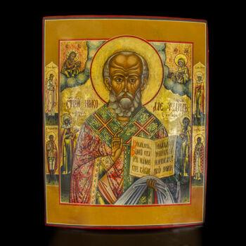 Szent Miklós szentekkel ikon
