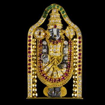 Indiai Shiva figurás drágaköves medál