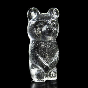 Maci forma üveg levélnehezék