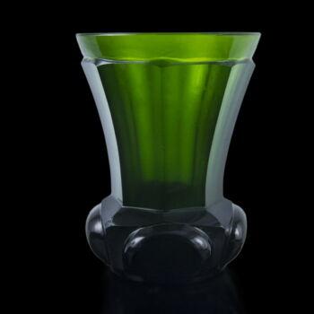 Anyagában színezett zöld üvegpohár