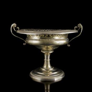 Bécsi antik ezüst kínálótál