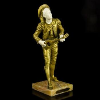 Eutrope Bouerot Figaro bronz szobra