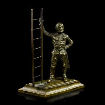 Kéményseprő bronz figura