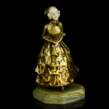 Van der Straeten fiatal hölgy bronz szobra