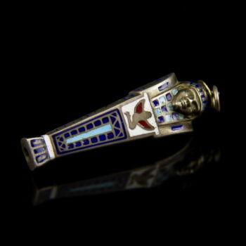 Egyiptomi fárao figura ezüst mini ceruza