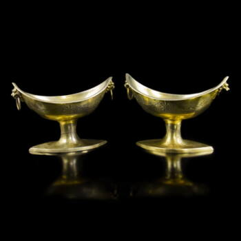 Antik aranyozott ezüst fűszertartó pár