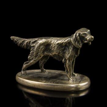 Ezüst kutya figura