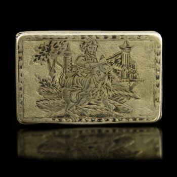 Moszkvai niellós ezüst szelence 1822