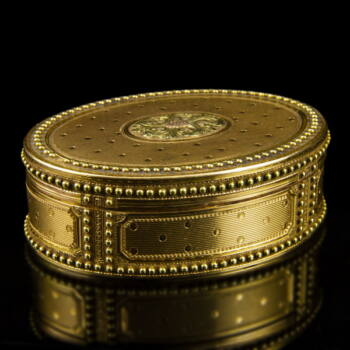 Francia antik arany szelence