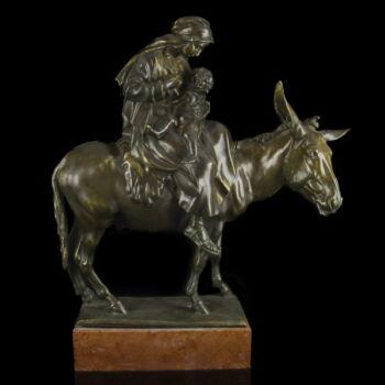 Ifj. Vastagh György - Szent Család bronz kisplasztika