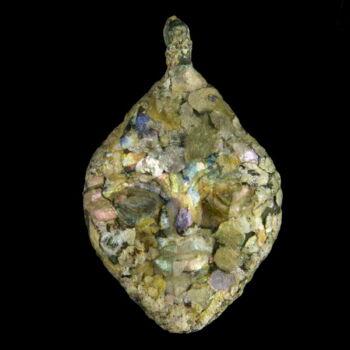 Római kori maszk üveg medál