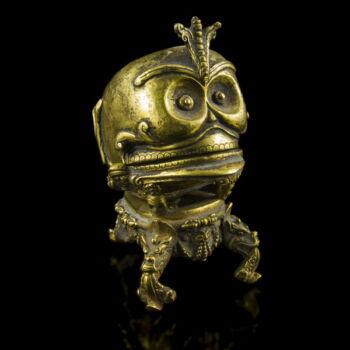 Nepáli szakrális koponya alakú tartóedény