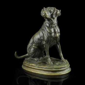 Paul Eduard Delabrierre bronz kutya figura