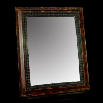 Teknőspáncél borítású asztali tükör képkeret