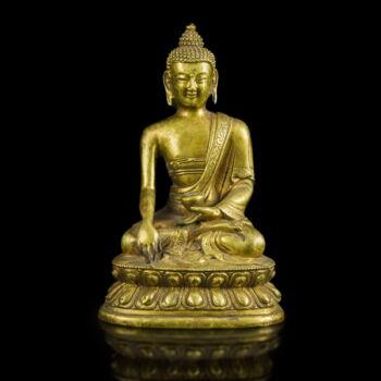 Tibeti bronz Buddha figura