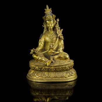 Tibeti bronz Padmasambhava