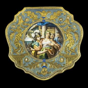 Antik arany szelence zománc díszítéssel