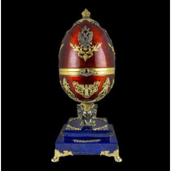 Fabergé stílusú orosz ezüst dísztojás