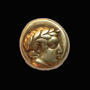 Antik görög érme Lesbos Mytilene elektrum Hekte