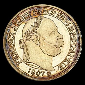 100 Korona aranyozott ezüst utánveret
