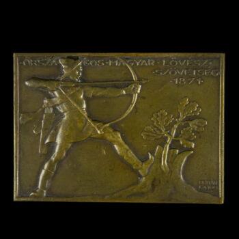 Berán Lajos Országos Magyar Lövészszövetség bronz plakett