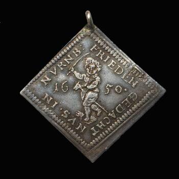 III. Ferdinánd ezüst jókívánság medál 1650
