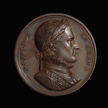 Napóleoni bronz emlékérem a Grande Armée oszlopával