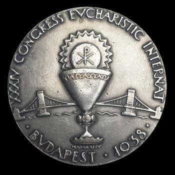 Madarassy Walter: Emlékérem az 1938-as Eucharisztikus kongresszus alkalmából