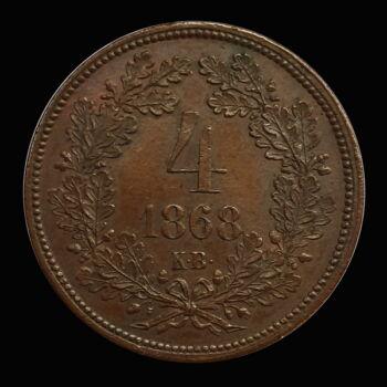 4 Krajcár 1868 KB