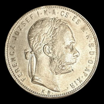 Ezüst 1 Forint 1880 KB Ferenc József