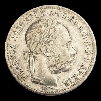 Ezüst 1 Forint 1887 KB Ferenc József
