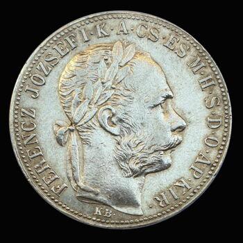 Ferenc József 1 Forint 1886 KB